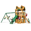 Image of Gorilla Chateau Clubhouse W/Fort Add-On Treehouse And Sunbrella® Roof - Jumpin Jungle