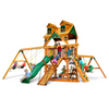 Image of Gorilla Frontier Swingsets In Natural Cedar Or Timber Shield™ W/Slides - Jumpin Jungle