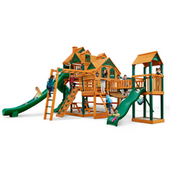 Gorilla Empire Extreme Swing Set W/ Timber Shield & Towers - Jumpin Jungle