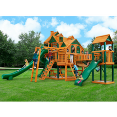 Gorilla Empire Extreme Swing Set W/ Timber Shield & Towers