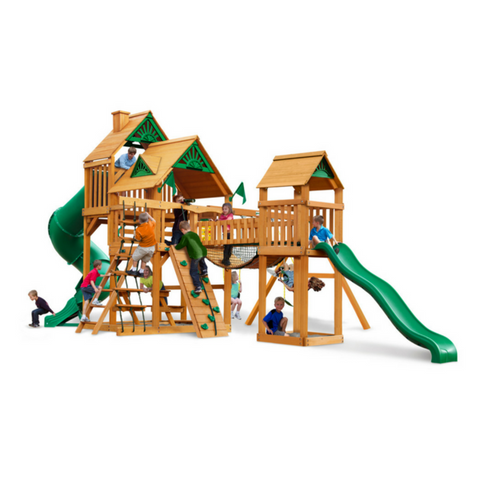 Gorilla Treasure Trove I Swingsets In Sunbrella® Or Standard Woodroof - Jumpin Jungle