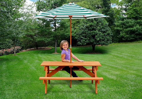 Gorilla Accessory - Children's Picnic Table With Umbrella - Jumpin Jungle
