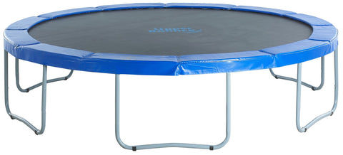 Upper Bounce Round Trampoline With Blue Safety Pad - Jumpin Jungle