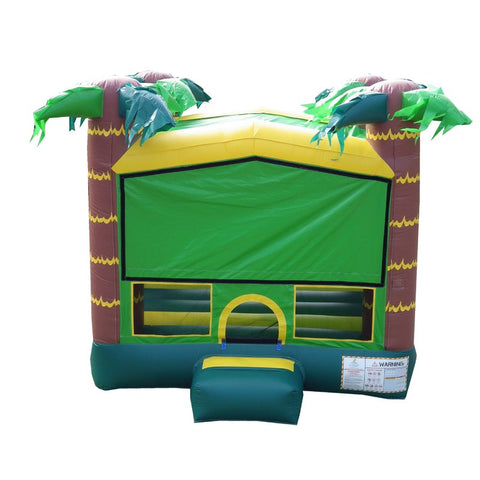 Jumporange Tropical Aloha Bricks Castle Mega Bounce House 13′ X 13′ - Jumpin Jungle