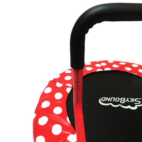 Skybound Mini 4 Children's Trampoline - Red Polka Dots - Jumpin Jungle