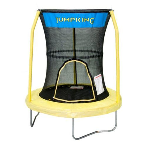 Bazoongi Toddler Trampoline 55 Inch In Yellow With Safety Net Jumpking - Jumpin Jungle