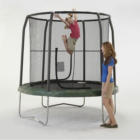 Bazoongi 7.5 Ft Trampoline For Kids Jump Pod In Green With Safety Net - Jumpin Jungle