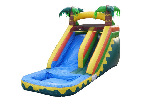 Jumporange 14′ Tropical Aloha Xtreme Wet/Dry Slide - Jumpin Jungle