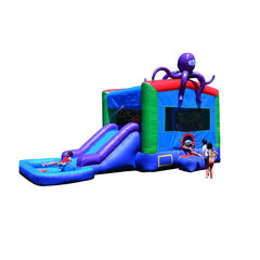Jumporange Sea Octopus Jump N' Slide Wet/Dry Combo - Jumpin Jungle