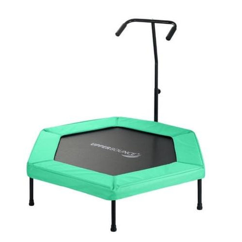 "Upper Bounce 50"" Hexagon Fitness Springless Trampoline With Hand Rail - Jumpin Jungle"