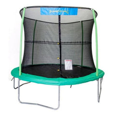 Jumpking 10 Ft Trampoline For Kids Round And Green With Safety Net - Jumpin Jungle