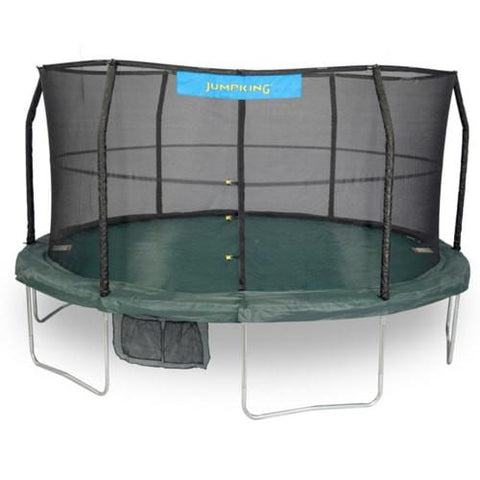 Jumpking 14 Ft Or 15 Ft Trampoline Big Round With Enclosure Net Combo - Jumpin Jungle