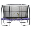 Image of Jumpking 8 X 12 Ft Trampoline Huge Oval With Safety Enclosure Net - Jumpin Jungle