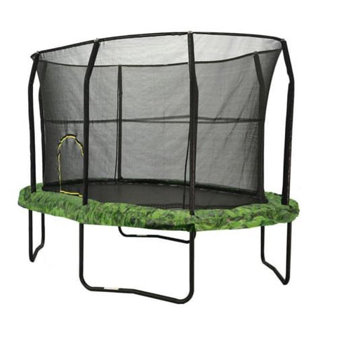 Jumpking 8 X 12 Ft Trampoline Huge Oval With Safety Enclosure Net - Jumpin Jungle