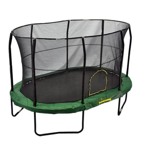 Jumpking 9 X 14 Ft Giant Oval Trampoline With Safety Enclosure Net - Jumpin Jungle