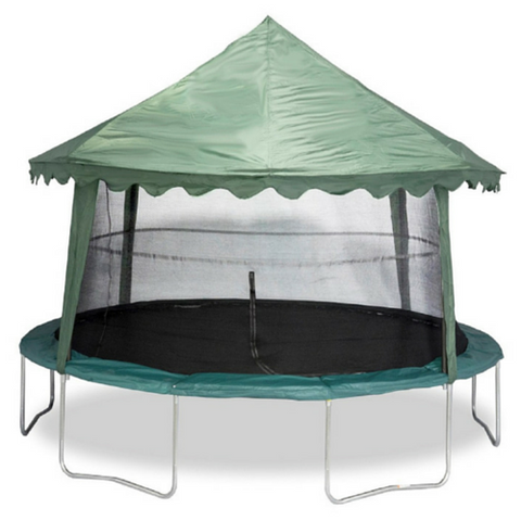 Jumpking Solid Green Canopy For 14 Ft Round Trampoline - Jumpin Jungle