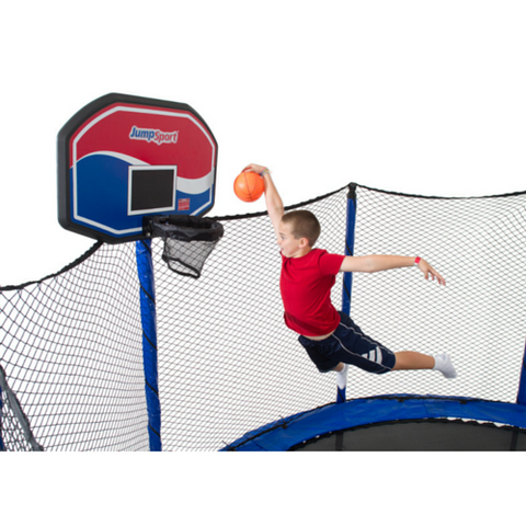 Jumpsport Trampoline 5 Inch Orange Basketball For Kids - Jumpin Jungle