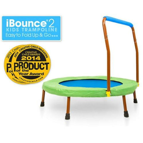 Jumpsport Ibounce Round Foldable Kids Trampoline For Toddlers With DVD - Jumpin Jungle