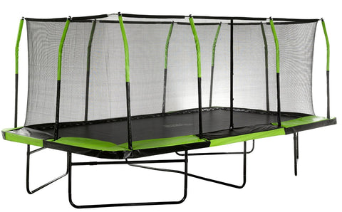 Upper Bounce 10X17 Mega Rectangle Trampoline With Safety Enclosure System - Jumpin Jungle
