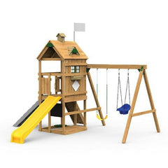 Playstar Trainer Silver Factory Built Playset W/Wall Climber - Jumpin Jungle