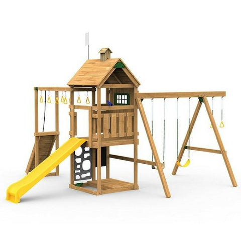 Playstar Contender Bronze Factory Built Playset With Climber & Swing - Jumpin Jungle