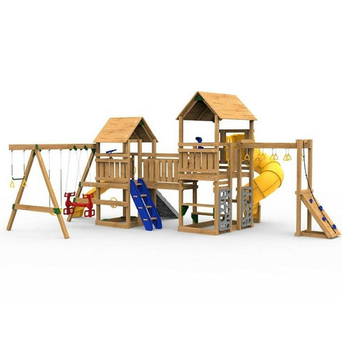 Playstar Super Star XP Gold Factory Built Wooden Playset W/Megascope - Jumpin Jungle