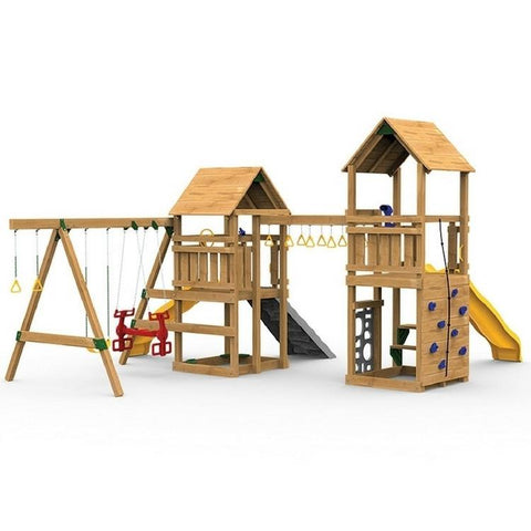 Playstar Super Star XP Silver Factory Built Wooden Playset With Picnic - Jumpin Jungle