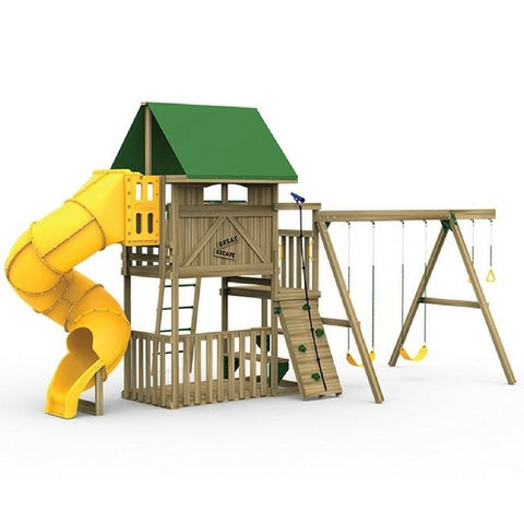 Playstar Great Escape Silver Factory Built Wooden Playset - Jumpin Jungle