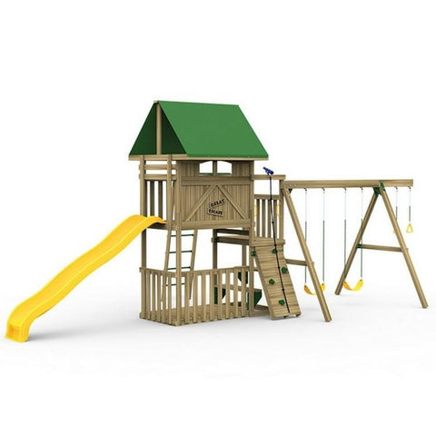 Playstar Great Escape Starter Factory Built Wooden Playset - Jumpin Jungle