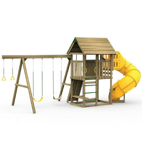Playstar All Pro Silver Factory Built Wooden Playset With Pro Kit - Jumpin Jungle
