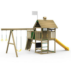 Playstar All Pro Bronze Factory Built Wooden Playset With Play Tunnel