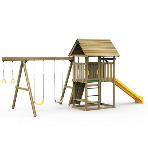 Playstar All Pro Starter Factory Built Wooden Playset W/Rope Climber - Jumpin Jungle