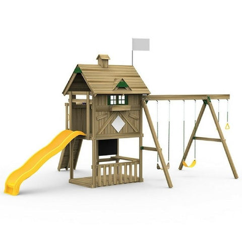 Playstar Grand Slam Bronze Factory Built Playset With Swing Hangers - Jumpin Jungle