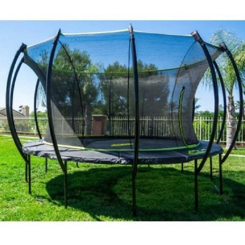 Skybound Stratos 14Ft Super Bouncy Large Trampoline With Enclosure Net - Jumpin Jungle