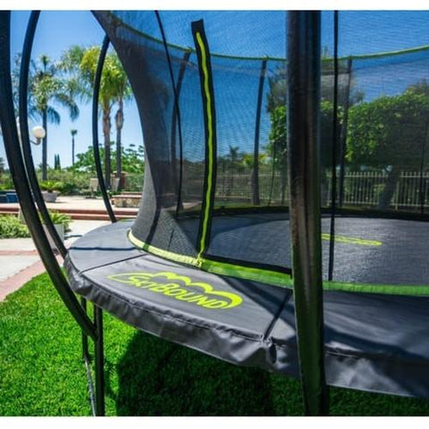 Skybound Stratos 12Ft Super Bouncy Round Trampoline With Enclosure Net - Jumpin Jungle