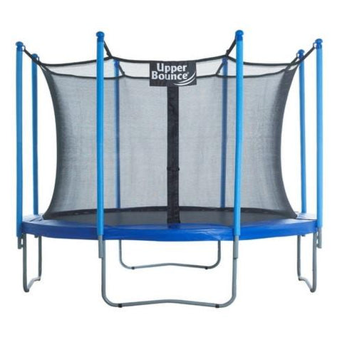 Upper Bounce Kids Round Trampoline With Full Safety Enclosure Net - Jumpin Jungle