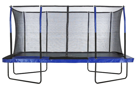 Upper Bounce 8X14 Rectangle Trampoline With Safety Enclosure System - Jumpin Jungle