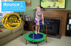 Jumpsport Ibounce Round Foldable Kids Trampoline For Toddlers With DVD