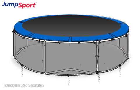 Jumpsport Round Black Mesh Safety Skirt For 14 Ft Trampoline - Jumpin Jungle