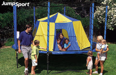 Jumpsport Bigtop Blue And Yellow Trampoline Tent - Jumpin Jungle