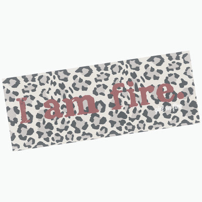 Girl On Fire Microfiber Yoga Mat Towel