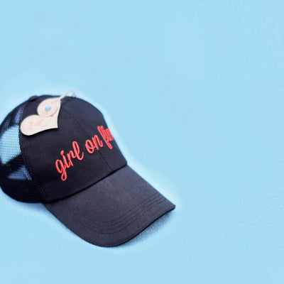 Girl On Fire Mesh Cotton Cap