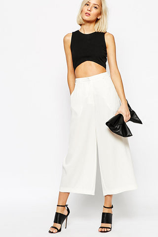 CRUISE CULLOTE PANT - WHITE