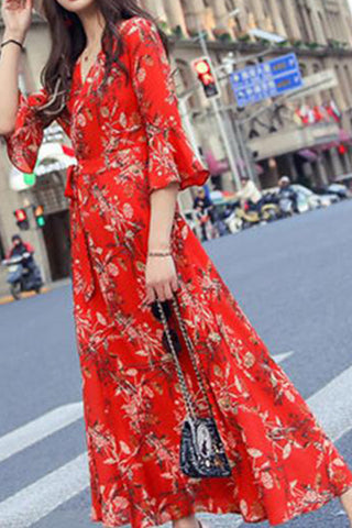 MANHATTAN FLORAL MAXI DRESS