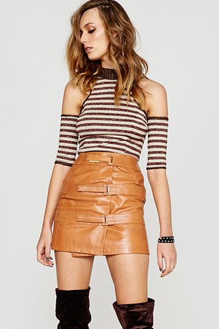 TRIPLE STRAP SKIRT - TAN NOW $80