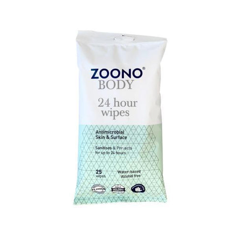 Zoono 24 Hour Protection Wipes - 25 Wipes