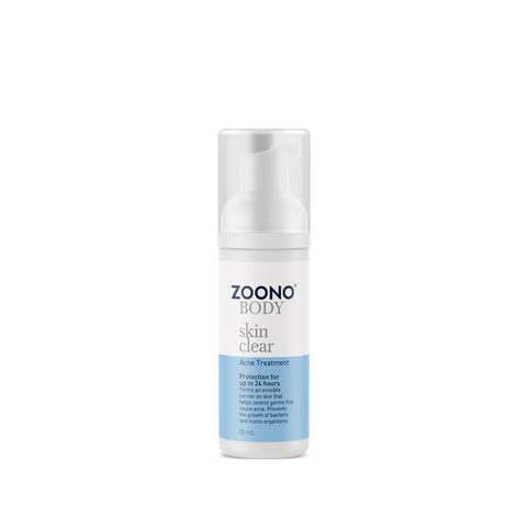 Zoono Organic Skin Clear Acne Treatment - 24 Hour Protection (50/150mL)
