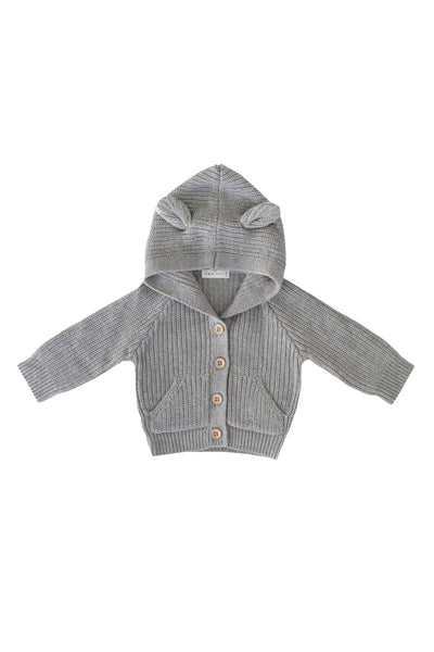 Bear Cardigan Grey