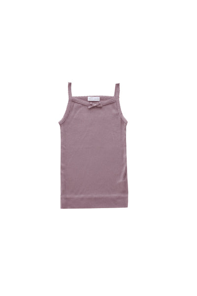 Cotton Modal Singlet Nostalgia Rose