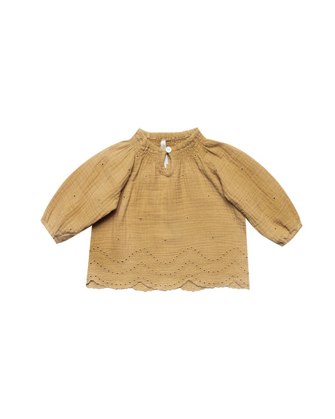 Eyelet Quincy Blouse Honey